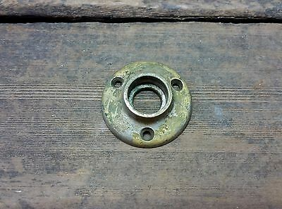 VTG Old Rustic SMALL Cast BRASS Rosette Door Knob Backplate Cover Hardware