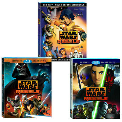 Star Wars Rebels:Complete Seasons 1 2 3 First Second third Bundle [Blu-Ray]