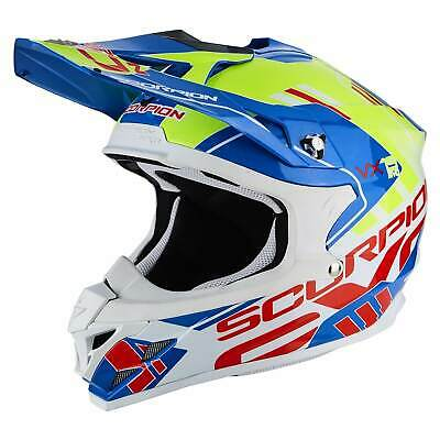 e16e1b0fb6ab6 SCORPION VX-15 EVO Air Argo Moto Casque Cross - Bleu Jaune Fluo ...