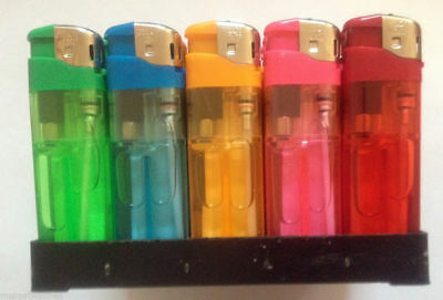 50 Pilot Electronic Refillable Lighters With Adjustable Flame Box Only £9.29