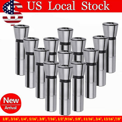R8 Collet Set - 13 pcs High Precision US