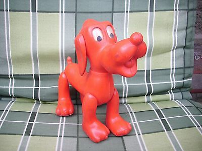 "DDR-Kult-Hund ""Pluto"" 60ger Jahre rot Top Zustand ca 20cm lang"