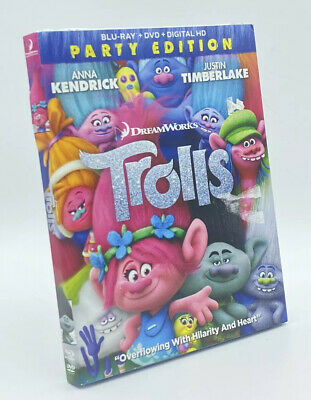 Trolls (Blu-ray+DVD+Digital HD, 2017; 2-Disc Set; 2-Disc Set)  NEW