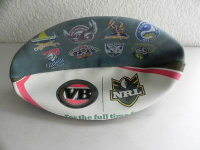 Collectable VB NRL Senior League Rubber Synthetic Team Club Logo Rugby FOOTBALL