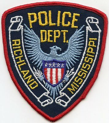 old vintage RICHLAND MISSISSIPPI MS POLICE PATCH