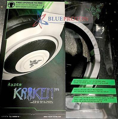 Razer Kraken Pro Over Ear PC Gaming Music Headset, White (RZ04-00870500-R3U1)