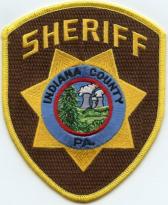 Indiana County Pennsylvania Pa Sheriff Police Patch