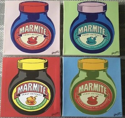 Set Of 4 Pop Art (Andy Warhol style) Marmite Prints