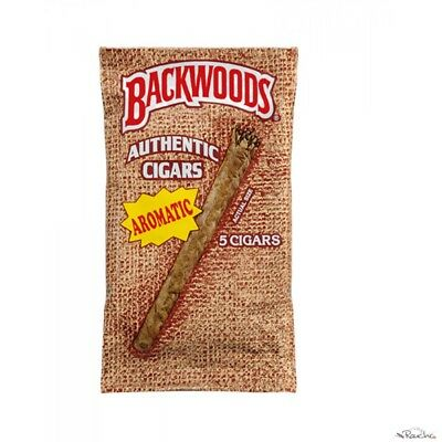 One pack of rare but fresh Authentic Backwoods Blunt cigars Wraps (5 Cigars).