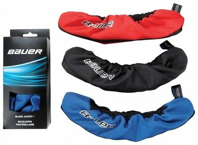 Bauer Blade Jackets Guard Covers For Ice Hockey Skates Black Red Blue