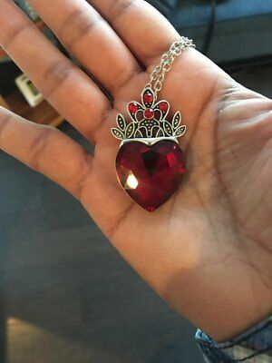 Evie Necklace Descendants Red Heart Crown Necklace Queen of Hear
