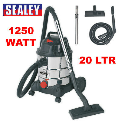 Sealey PC200SD 110v Vacuum Cleaner Industrial Wet and Dry 20ltr 1250w Stainless