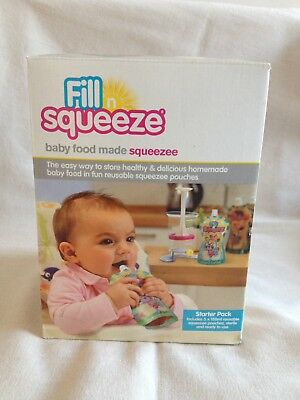 Fill N Squeeze Starter Pack Plus 10 Squeezee Pouch Refills