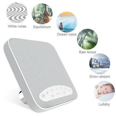 White Noise Machine with 6 Nature Sounds Sleep Sound Therapy for Baby, Adult New