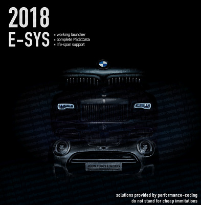 BMW E-Sys ESYS Software 2018 PSdZData Launcher *with added support*