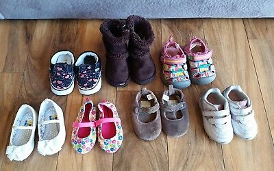 Lot of Baby Girl Shoes, 7 pairs, size 3