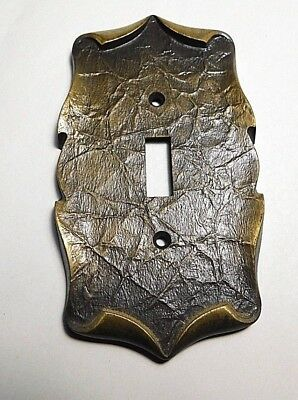 Vintage Cast Brass Scroll Single Switch Plate,  Cover