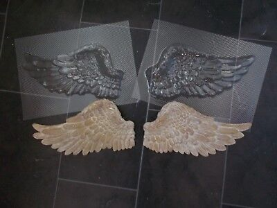 Angel Wings Plastic Chocolate Plaster Moulds