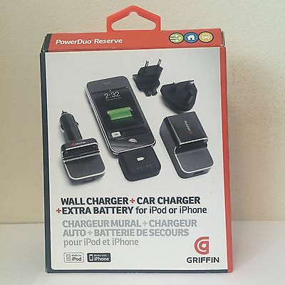 Griffin Wall Charger , Car Charger, Extra Battery For Ipod Or Iphone
