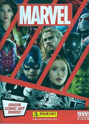 Panini Marvel Heroes 2017 Complete Set 198 Cards & Collectors Binder.