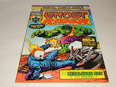 """HIGH Grade Key Ghost Rider # 11 With """"The HULK"""" On The Cover Great Condition"""