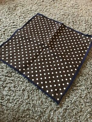 Suitsupply Linen Polka Dot Pocket Square