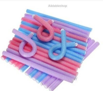 12Mm Bendy Twist Benders Hairdressing Foam Hair Rollers Curlers Curly Stylist