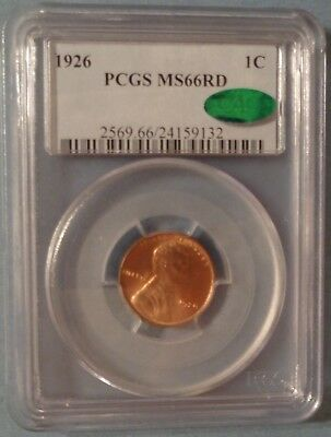 1926 Lincoln Cent PCGS MS66 RD CAC