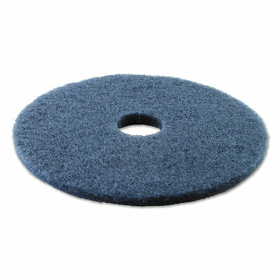 Boardwalk Standard 17' Scrubbing Floor Pads, Blue, 5 Count