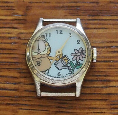 Vintage 1978 wind-up Garfield Comic Character Watch by Paws