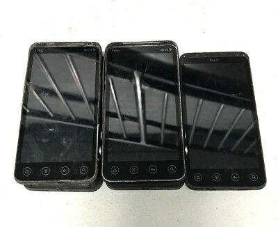 5 Lot HTC Evo PG-86100 CDMA Locked For Parts Repair Used Wholesale As Is