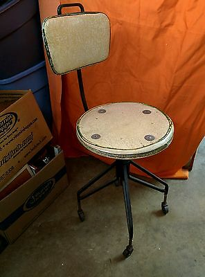 "Vintage Stool Wrought Iron Chair Steel Steam punk Adjustable ""SALE"""