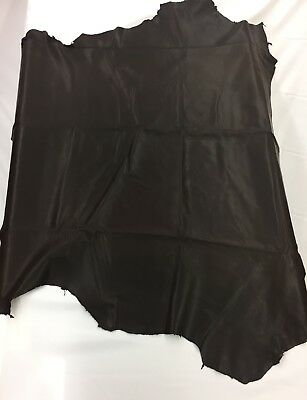 "real leather Fabric Brown 33""✖️31"" Piece 100% genuine 100% real leather £11.99"