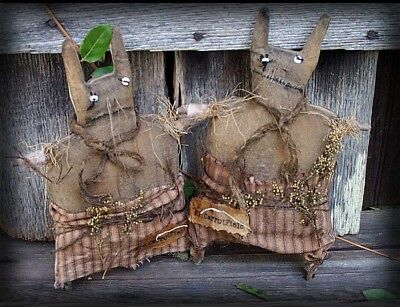 EASTER or SPRING Primitive SEWING PATTERN ~ Mr and Mrs Carrotfield Rabbit
