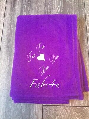 Personalised Embroidery Fleece Baby Blankets Any Message Baby Gifts Boy And Girl
