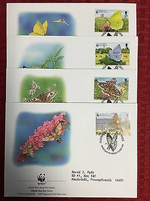 Guernsey 1997 WWF SET Of 4 FRIST DAY COVERS (S#41)