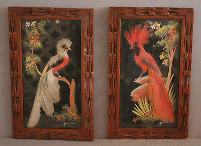 Qty 2 Mexican Feathercraft 6.5 x 10.5 Handmade Mexican Frames (20430)