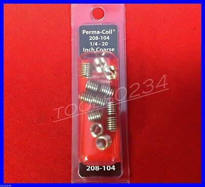 Perma Coil 208-104 SAE Coarse Inserts 1/4-20 Package of 12 USA MADE Free Ship