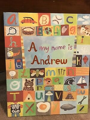 Oopsy Daisy wall art - A my name is Andrew
