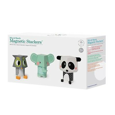 Manhattan Toy Mix-and-Match Magnetic Stackers Wooden Block Set