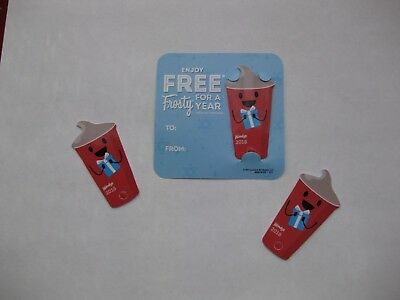 4- 2018 Wendy's FREE FROSTY EVERY VISIT keytag card wendys key tag fobs