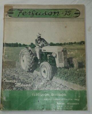 19955 VINTAGE MASSEY  HARRIS FERGUSON 35 Maintenance Operation MANUAL