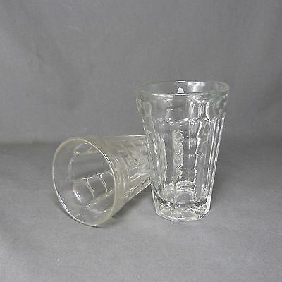 2 Vintage Antique French Massive Beer Glasses Art deco - ca 1930 - Blowned Glass