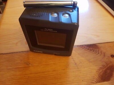 CASIO TV - 6600 LCD Color Television schwarz