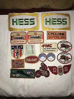 GROUP OF 17 ORIGINAL EMBROIDERED 60/70s JACKET PATCHES