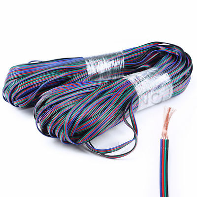 2-100M 4-Pin 22WAG 3528 5050 RGB LED Strip Light Extension Wire Cable Connector