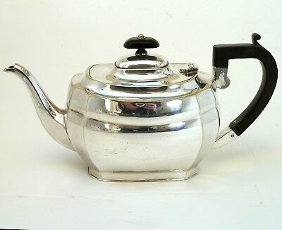 SILVER ART NOUVEAU STYLE TEAPOT WITH SCROLL HANDLE BY HARRISON FISHER & Co.