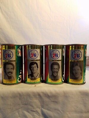 PHILADELPHIA 76ers CANADA DRY GINGER ALE COLLECTORS CANS