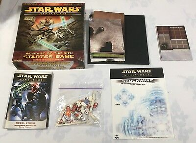 Star Wars Miniatures Game Rules & Maps Lot