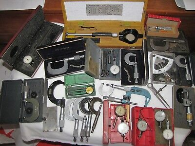 Vintage Lot Of Micrometers, Guages & Calipers For Machinist !